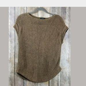 Talbots linen knit top medium petite